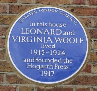 Hogarth Press plaque