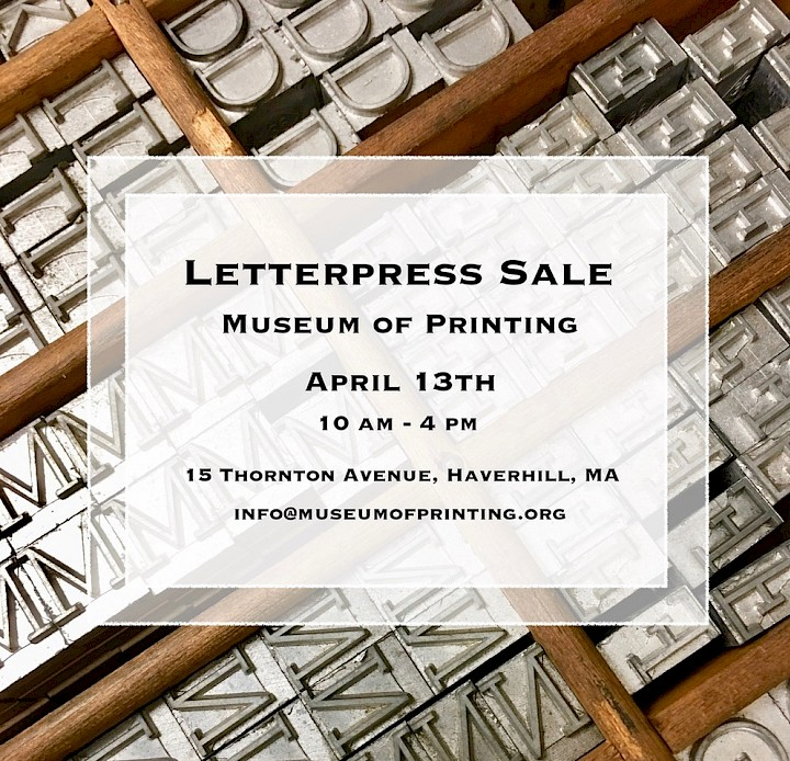 Letterpress Sale on April 13th